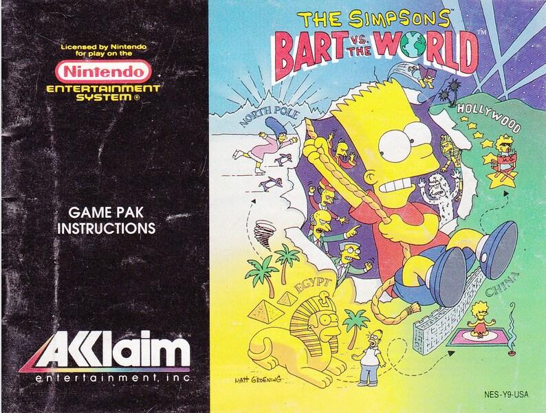 The Simpsons Bart vs the World  Nintendo NES  Original image 0