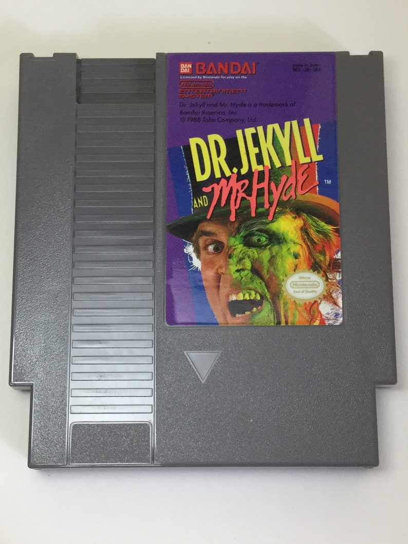 Dr. Jekyll and Mr. Hyde  Nintendo NES  Original Game Cart  image 0