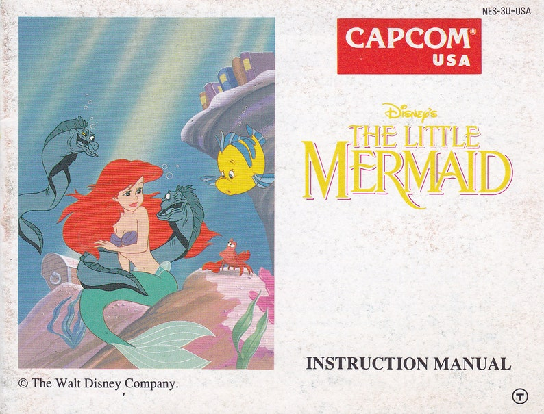 Little Mermaid  Nintendo NES  Original MANUAL ONLY  image 0