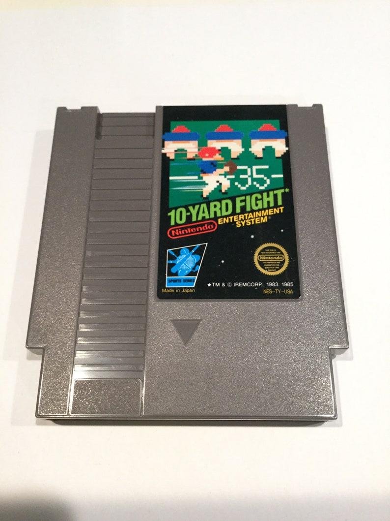 10-Yard Fight  Nintendo NES  Original Game Cart  Tested & image 0