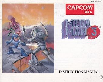 Mega Man 3 - Nintendo NES - Original MANUAL ONLY - Authentic - Instruction Booklet
