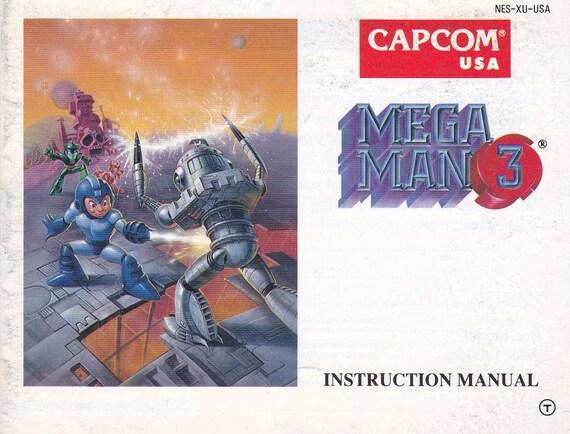 Mega Man 3 Nintendo Nes Original Manual Only Authentic Etsy