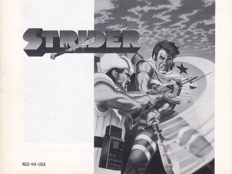 Strider  Nintendo NES  Authentic Original Manual Only  image 0