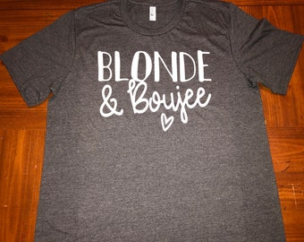 dad55813 Blonde & Boujee Shirt - Glitter Design