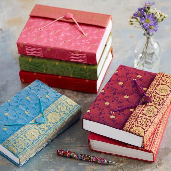 Handmade Sari Journal  Fabric Journal  Handbound Notebook