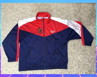 3e8b4519499 90s Clothing VINTAGE - Reebok Jacket retro 90s 80s vtg men size L-XL -  muhammad ali boxing