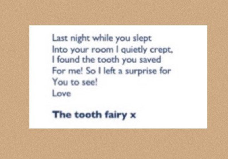 Tooth fairy kit with magical glow in the dark Tooth pot