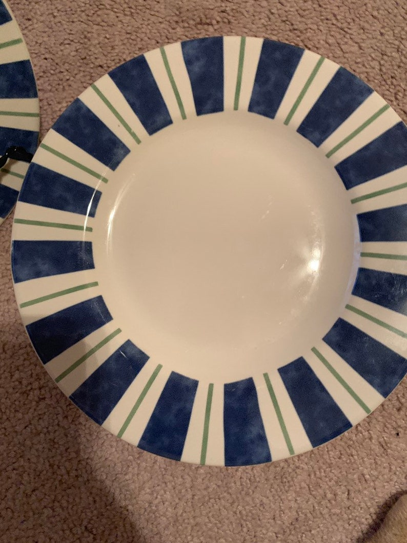 Pfaltzgraff Wyngate Stripe 7 Stoneware Salad Plates