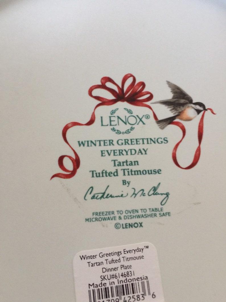 Lenox Winter Greetings Titan Set of 2  Dinner Plates