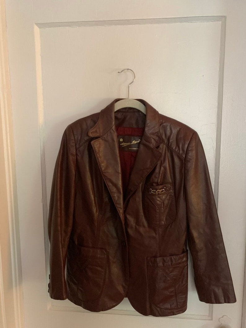 5f1d0ae3b Vintage 70s-80s Etienne Aigner Leather Blazer