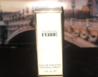 862d0210f1 GIANFRANCO FERRE Gianfranco Ferre, 1 fl.oz / 30 ml. Eau De Toilette spray,  1984 Vintage Original *SEALED* NiB