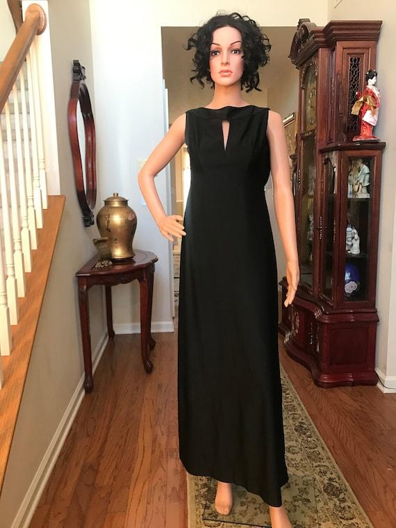 Vintage 1970's Werber, black formal dress