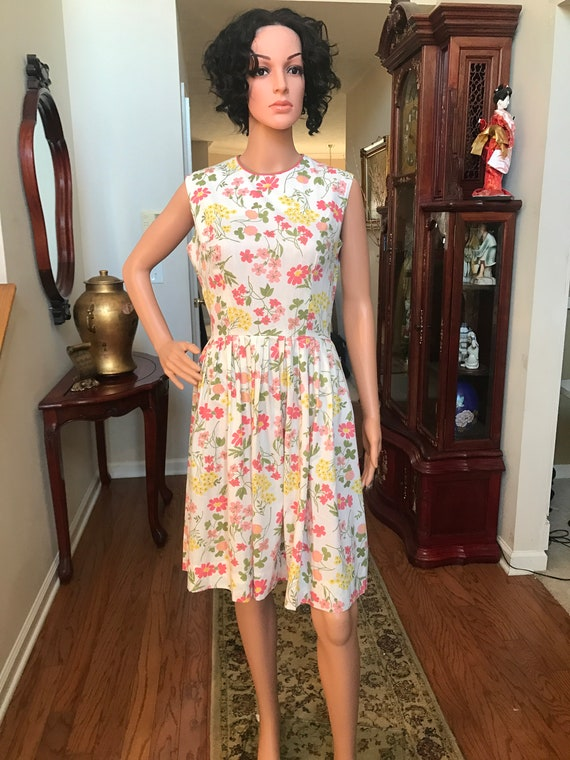 1960's Stacy Ames floral sundress - image 4