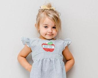 First Day of School Dress, Back to School Dress, 1st Day of School Outfit, Granddaughter, Niece, Toddler, Kindergarten, Preschool, 1st Grade