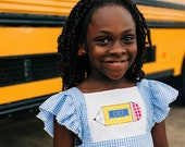 First Day of School Dress, Back to School Dress, 1st Day of School Outfit, Pencil Dress, Toddler, Kindergarten, Preschool, 1st Grade