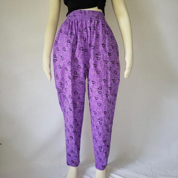 vintage pants purple pants new wave pants 80s pant
