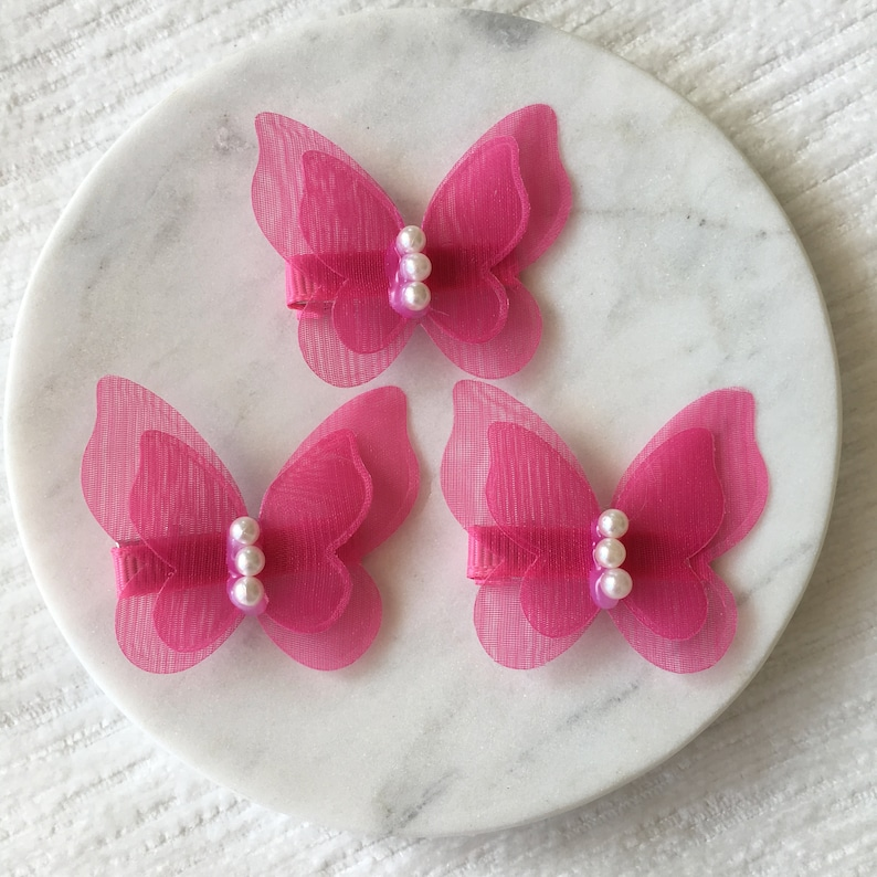 Cute Butterfly with Pearls Hair Clips,