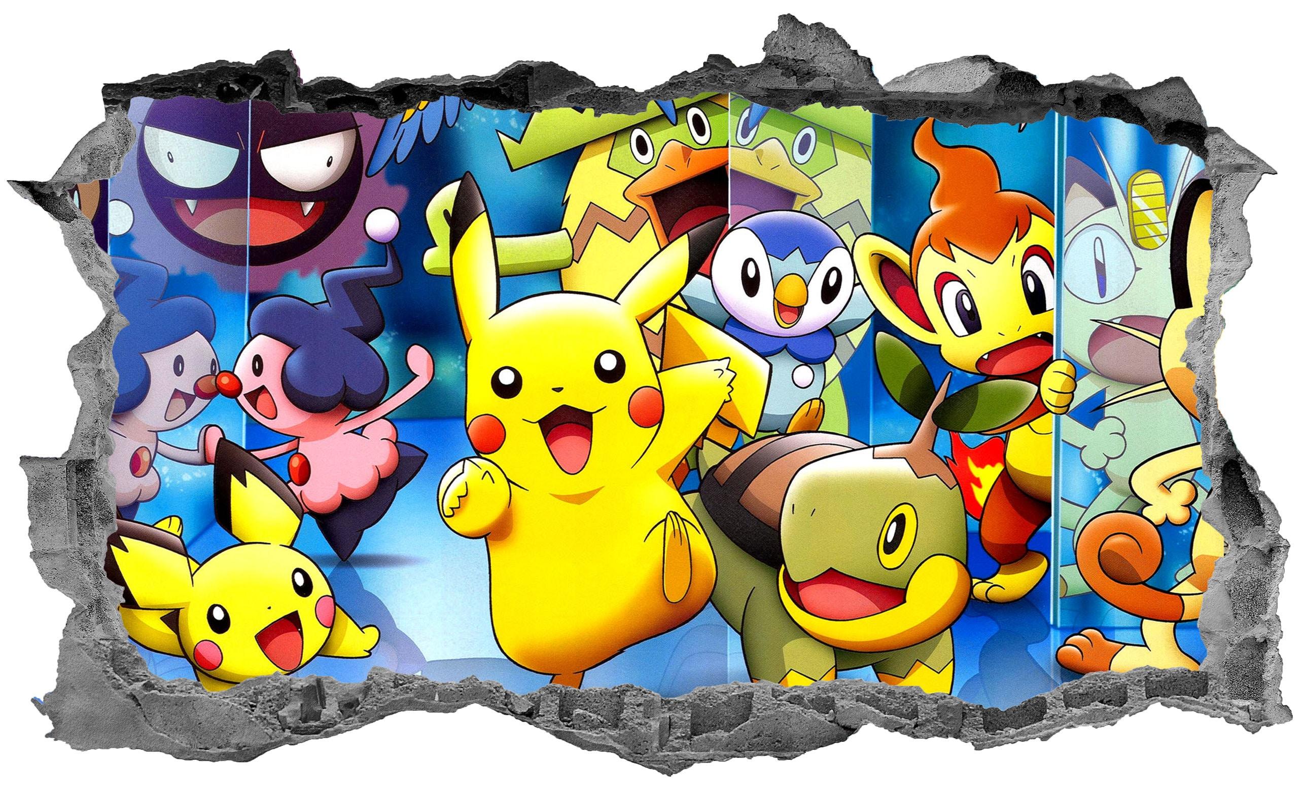 Wandtattoos Wandbilder Pokemon Sticker Kids Decal 3d Bedroom Wall Art Decor Mobel Wohnen
