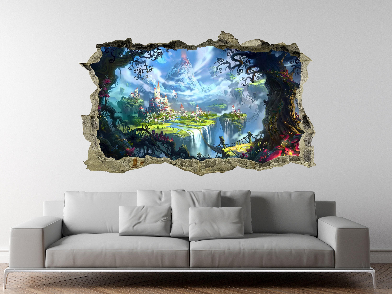 Enchanted Foreststickerdecorfantasy3dwall Etsy