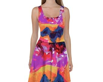 RED FLOWER SOCKS / Sun Dress /  Summer decor / Fall wedding decor / Bridesmaid dress / Bridesmaid dress / Flower girl dress / Princess dress