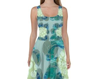 MAGNOLIA SKATER DRESS / Summer dress / Sun Dress / Summer decor / Fall wedding decor / Bridesmaid dress / Bridesmaid dress / Princess dress