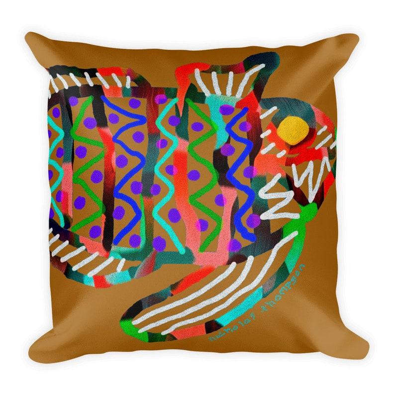 Fish theme pillow / Beach Pillow / Modern Pillows / Beach image 0
