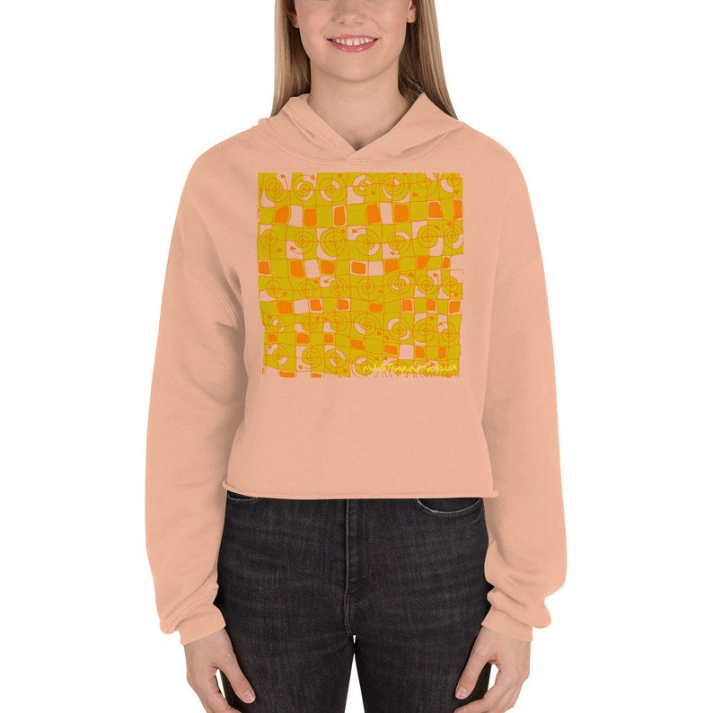 Gift for mom / Crop Hoodie / Colorful Sweat Shirt / Cool image 0