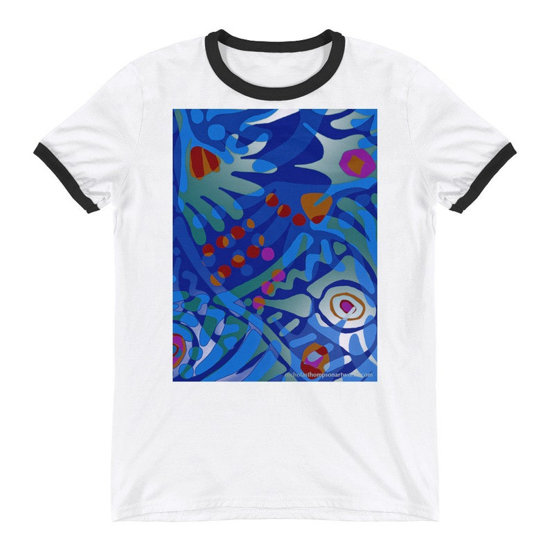 Art t shirt / Beach T-shirt / Vacation Clothing / Tropical image 0