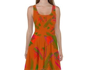 FISHING BOATS DRESS / Sun Dress /  Summer decor / Fall wedding decor / Bridesmaid dress / Bridesmaid dress / Flower girl dress