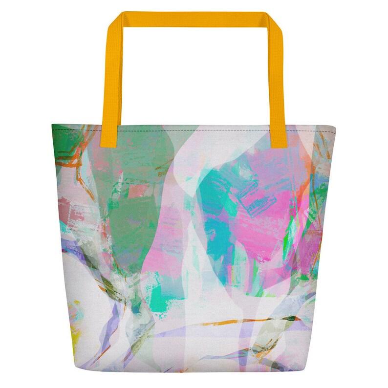 Niche beach bag Overnight bag  Abstract art Travel Bag image 0