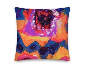 RED FLOWER PILLOW / Scandinavian decor / Modern home decor / Cottage decor / throw pillow / Housewarming gift / Cottage decor