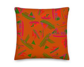 FISHING BOATS PILLOW / Throw Pillow / Modern home decor / Cottage decor / Housewarming gift / Cottage decor / Custom pillow