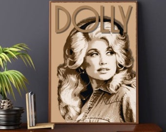 A3 Dolly Parton Portrait Illustration Print