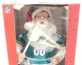 4a351952468eb3 NFL Santa Miami Dolphins Holiday Creations 1999