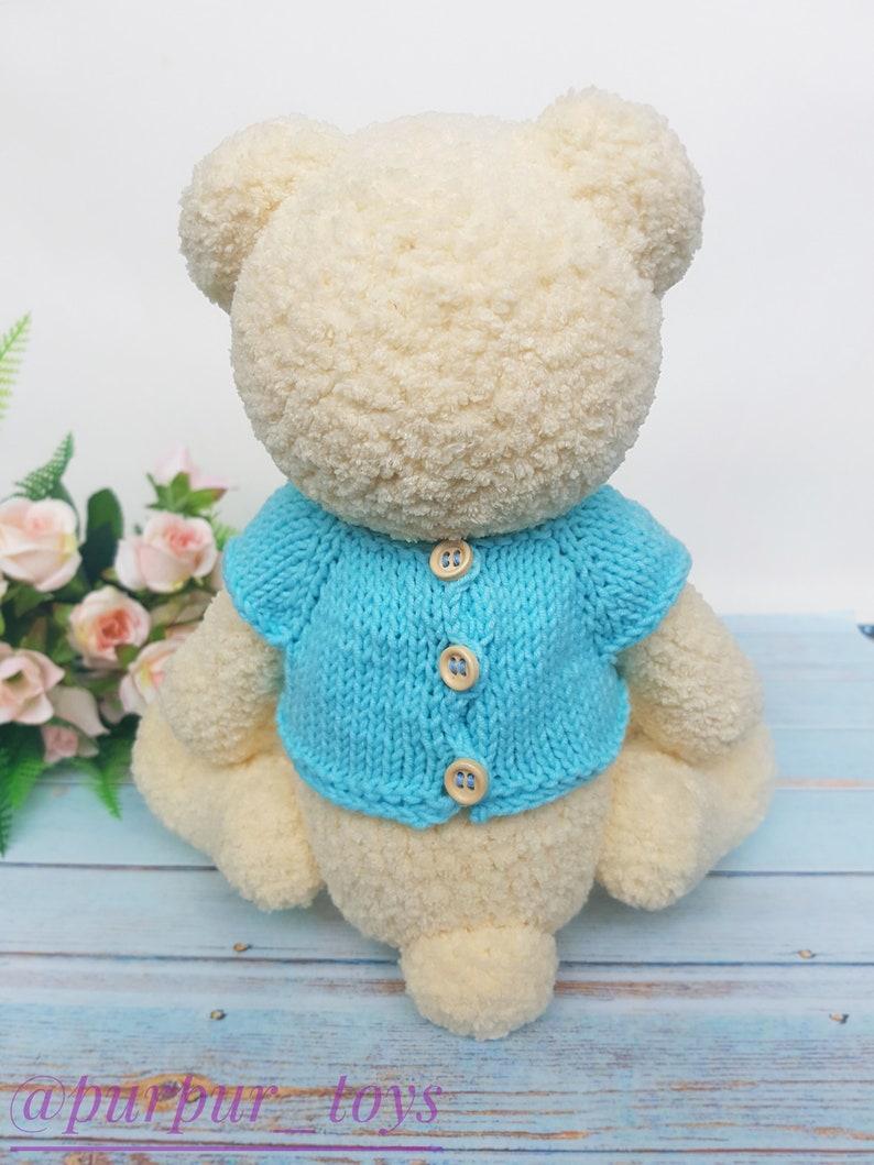 Bear Stuffed Animal Baby Shower Gift \u2013 soft bear toy \u2013 plush handmade toy Bear toy Amigurumi bear Crochet bear Ready to ship