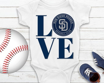 1ae07334 MLB San Diego Padres Baby Bodysuit -San Diego Padres Baby Romper -Padres  Baby Shirt - MLB Padres Onepiece-MLB Dodgers Baby & ToddlerGifts