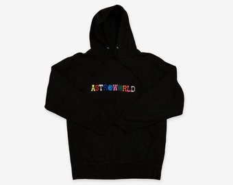 d8ccef78c8d4 Astroworld Hoodie Tour Merch | Travis Scott Style Embroidered Pullover  Hoodie