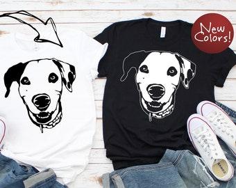 e24974cf76ec Custom Dog Headshot Shirt, Personalized Dog Shirt, Dog Mom Shirt, Dog  Parent Shirt, Dog Dad Shirt