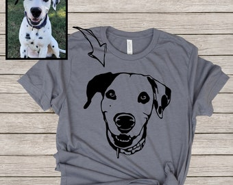 c1c6385766e1 Custom Dog Headshot Shirt