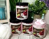 Raspberry Jam Whipped Soap, Foaming Bath Whip, Whipped Bath Butter, Raspberry Soap