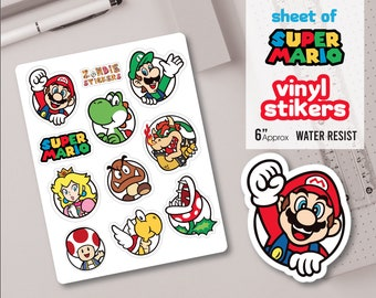 picture regarding Printable Sticker Vinyl titled Mario sticker Etsy