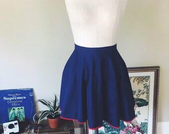 6cddbfd05 Vintage 1960's High Waisted Micro Mini Skirt