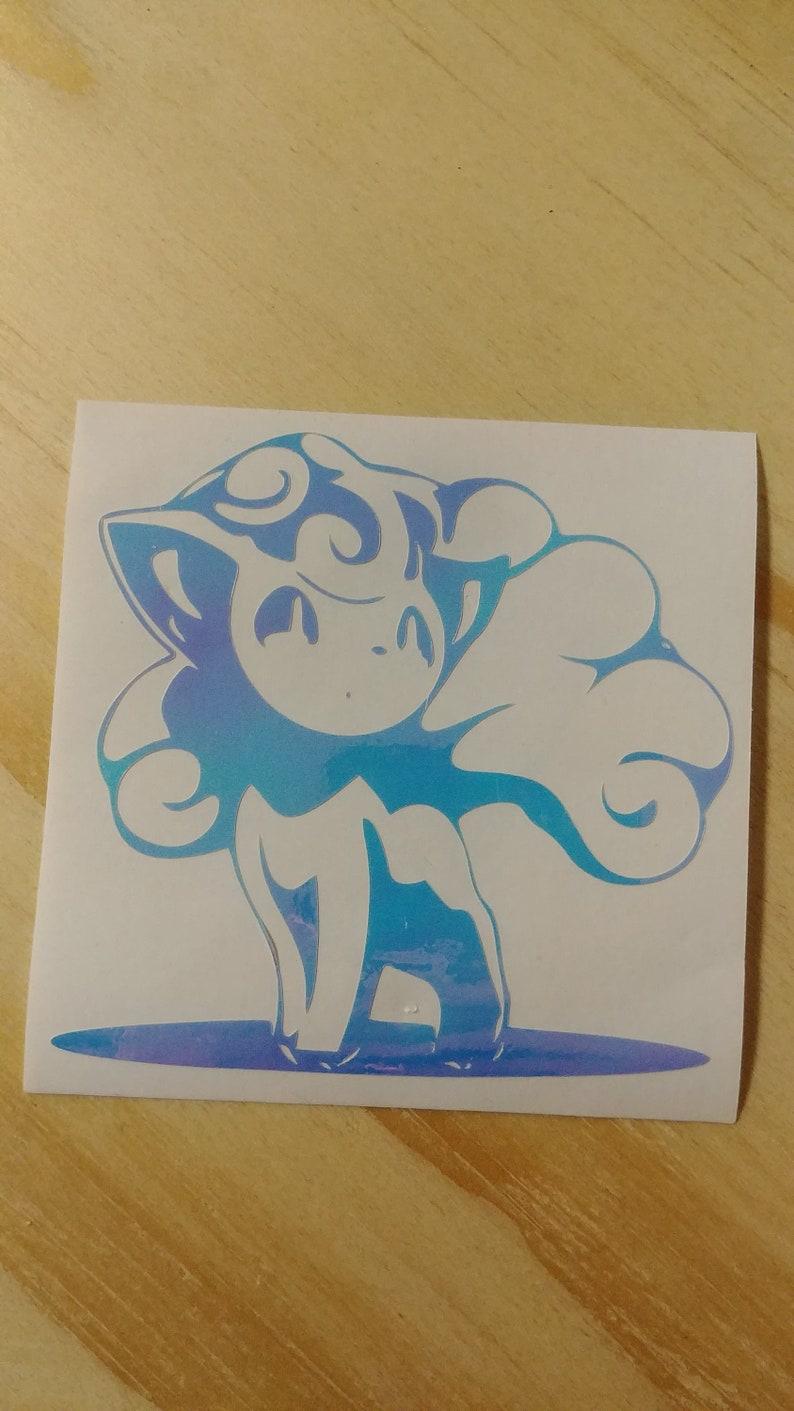Pokemon ALOLAN  VULPIX vinyl sticker