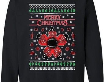 Strange Christmas Jumper Eleven Thing Sweatshirt Xmas Santa Hoiliday Sweat Top