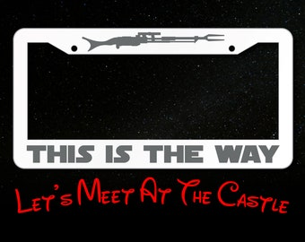 MAKE WAY FOR THE PRINCESS License Plate Frame