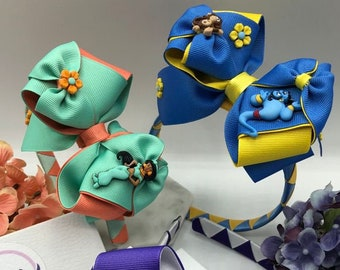 Headbands with hairbows, hair bows, headbands, hair bows for girls, princess hair bows, toddler hair bows, movie character hair bows, bows