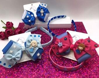 Headbands with hairbows, hair bows, hair bows for girls, princess hair bows, toddler hair bows, movie character hair bows, colorful hair bow