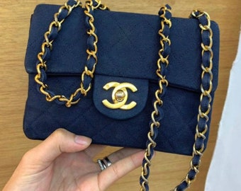 e1fe10361eb3 Chanel rare denim vintage bag