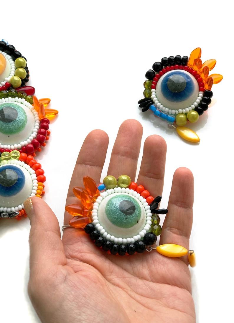 Handmade Eyes Necklace with Eyes Big Eyes