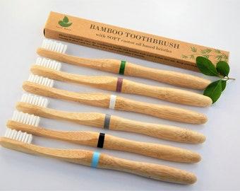 ECO Bamboo Toothbrush /& Travel Tube SET Case Natural Cover Holder Brush Vegan UK